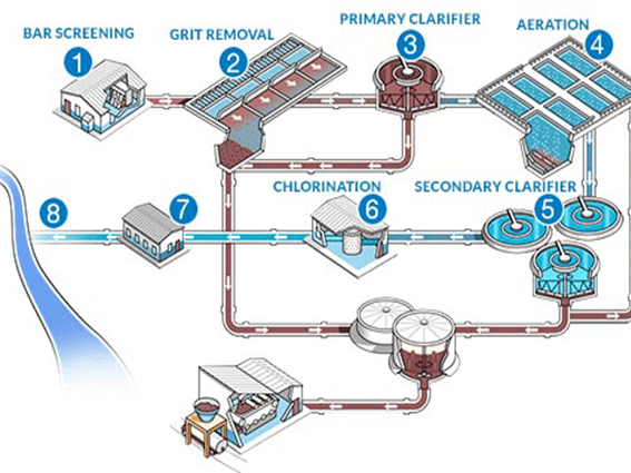 Sewage collection network
