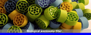 Biological wastewater filter